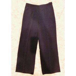 ANN TAYLOR Navy Blue Textured Side Zip Dress Pants